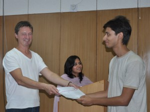 Henrik Valeur issues a diploma to a student at Chandigarh College of Architecture, 2010