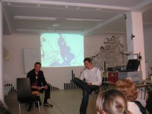 Henrik Valeur and Fredrik Fritzson in Malmö, 2003