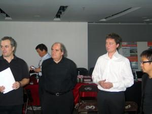 Christoph Zechner, Cui Kai, Bernard Reichen, Henrik Valeur and Ma Qingyun in Guangzhou, 2005