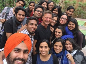 Henrik Valeur with students of Sushant School of Art & Architecture, 2015