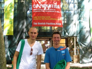 Fredrik Fritzson (managing director) and Henrik Valeur (creative director) in Venice, 2006